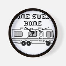 Home Sweet Home Motorhome Wall Clock