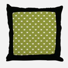CUPS ON GREEN Throw Pillow