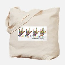 ASL LOVE Can Be DIFFERENT Tote Bag