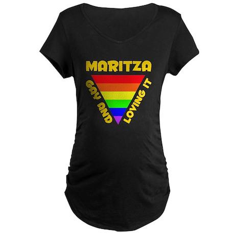 Maritza Gay Pride (#009) Maternity Dark T-Shirt