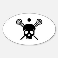 Lacrosse skull Decal