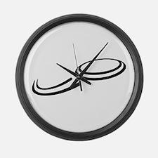 Frisbee Large Wall Clock