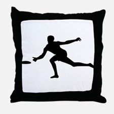 Discgolf player Throw Pillow