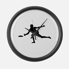 Discgolf player Large Wall Clock