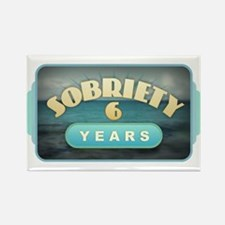 Sober 6 Years - Alcoholics Magnets