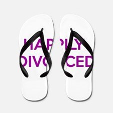 Happily Divorced - Happy To Be Divorced Flip Flops