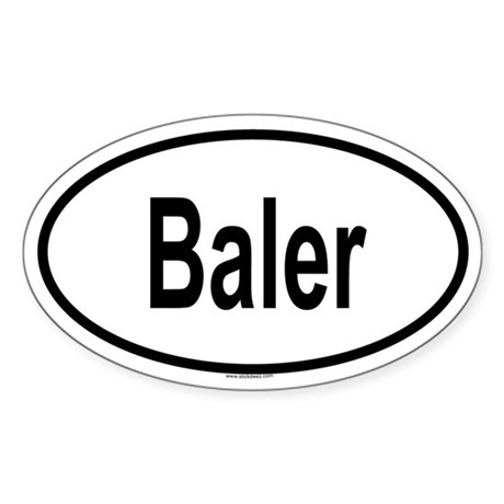 BALER Oval Sticker
