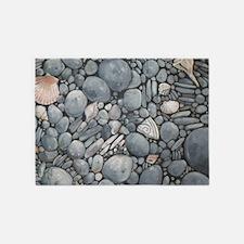 Beach Stones Pebbles Rocks 5'x7'Area Rug