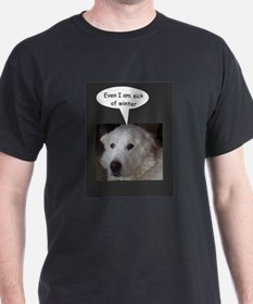 Great Pyrenees is sick of winter T-Shirt