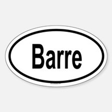 BARRE Oval Decal