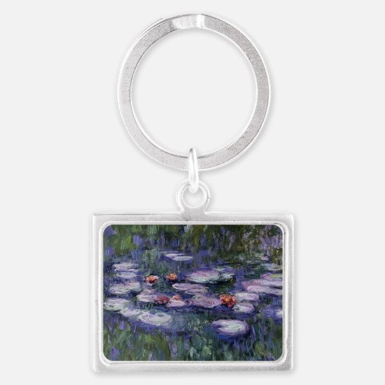 Funny Water lilies Landscape Keychain