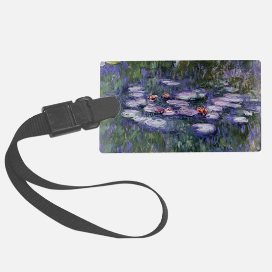 Water lilies Luggage Tag