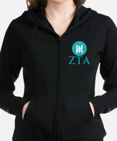 Zeta Tau Alpha Monogram Women's Zip Sweatshirt