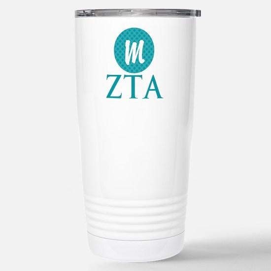 Zeta Tau Alpha Monogram Stainless Steel Travel Mug