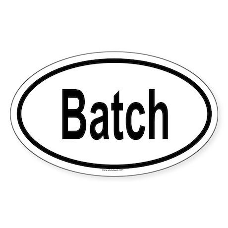 BATCH Oval Sticker