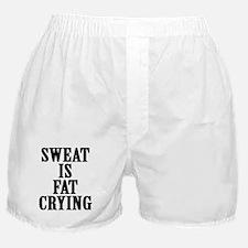 Sweat is Fat Crying Gymwear Boxer Shorts
