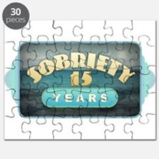 Sober 15 Years - Alcoholics Puzzle
