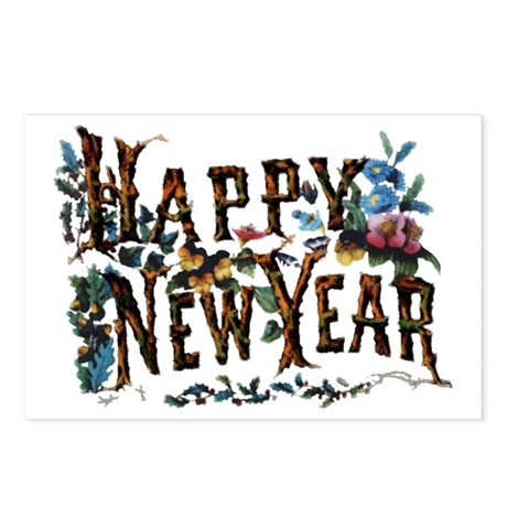 Happy New Year - Postcards (Package of 8)