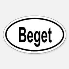 BEGET Oval Decal