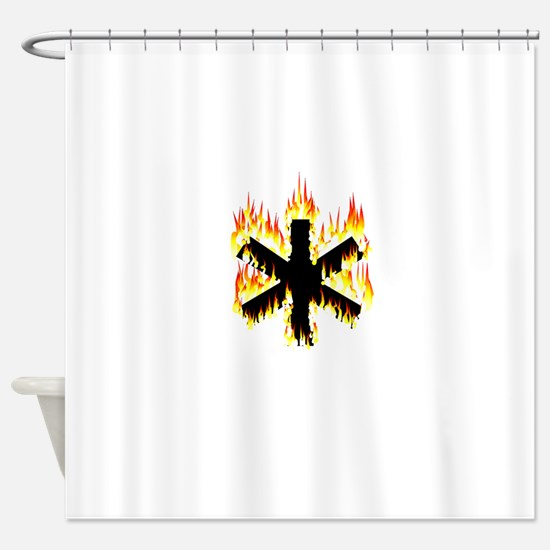 Asterisk (Flames) Shower Curtain