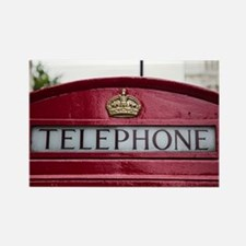 Cute Telephone booth Rectangle Magnet