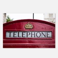 Unique Telephone booth Postcards (Package of 8)
