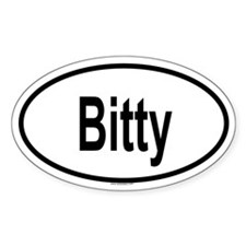 BITTY Oval Decal