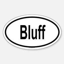 BLUFF Oval Decal