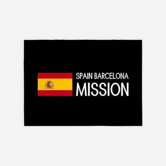 Spain, Barcelona Mission (Moroni) 5'x7'Area Rug