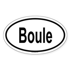 BOULE Oval Decal