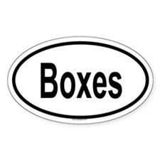BOXES Oval Decal