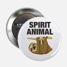 """Sloth is my Spirit Animal 2.25"""" Button (10 pack)"""