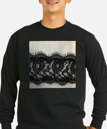 great gatsby black lace Long Sleeve T-Shirt