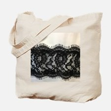 great gatsby black lace Tote Bag