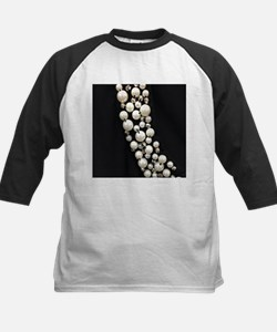 black and white pearl Baseball Jersey