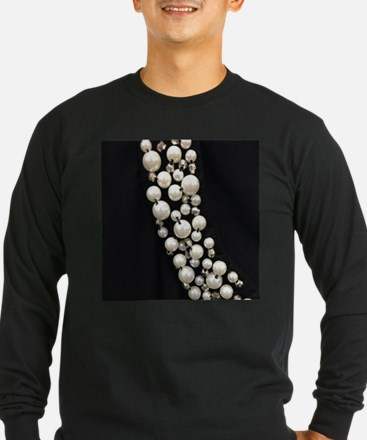 black and white pearl Long Sleeve T-Shirt