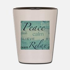 Zen words design Shot Glass