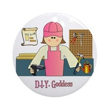 D.I.Y. Do It Yourself Goddess Ornament (Round)