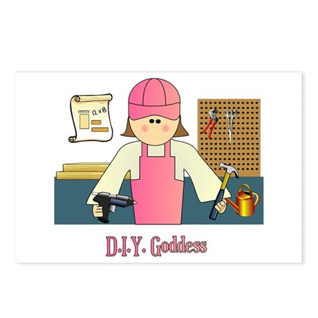 D.I.Y. Do It Yourself Goddess Postcards (Package o