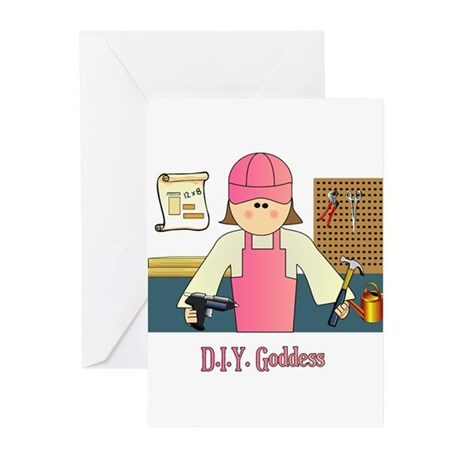 D.I.Y. Do It Yourself Goddess Greeting Cards (Pk o