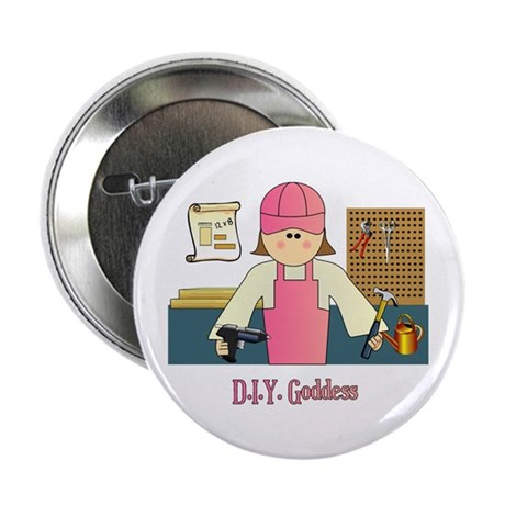 """D.I.Y. Do It Yourself Goddess 2.25"""" Button (100 pa"""