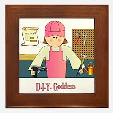 D.I.Y. Do It Yourself Goddess Framed Tile