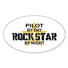 Pilot Rock Star Oval Decal
