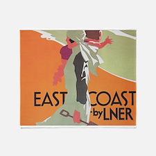 East Coast by LNER, England Vintage Travel Poster