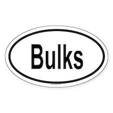 BULKS Oval Decal