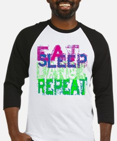 eat sleep dance repeat for black copy Baseball Jer