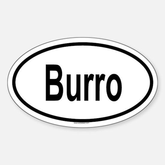 BURRO Oval Decal