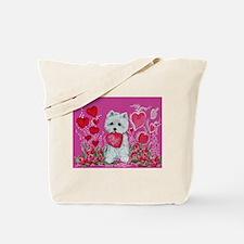 Valentine Westie Tote Bag