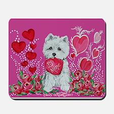 Valentine Westie Mousepad