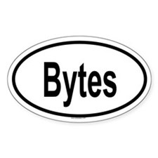 BYTES Oval Decal
